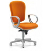 Chaise KLIO - Dossier haut synchrone Orange