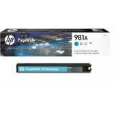 HP 981A CYAN ORIGINAL PAGEWIDE CARTRIDGE
