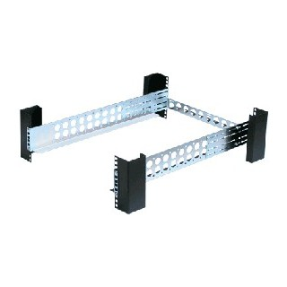 Fixed Rack Equipment Shelf with 2/4-Post Static Rails, 1U-Kit